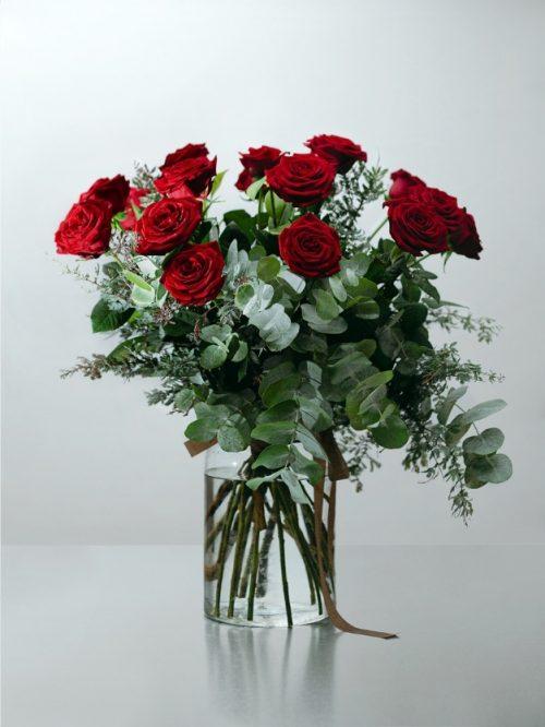 Regalo rosas rojas bonito