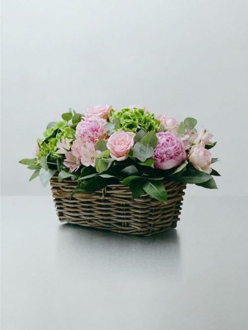 Envió de centro de flores rosas a domicilio